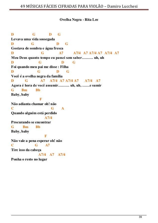 49 Musicas Faceis Cifradas Para Violao