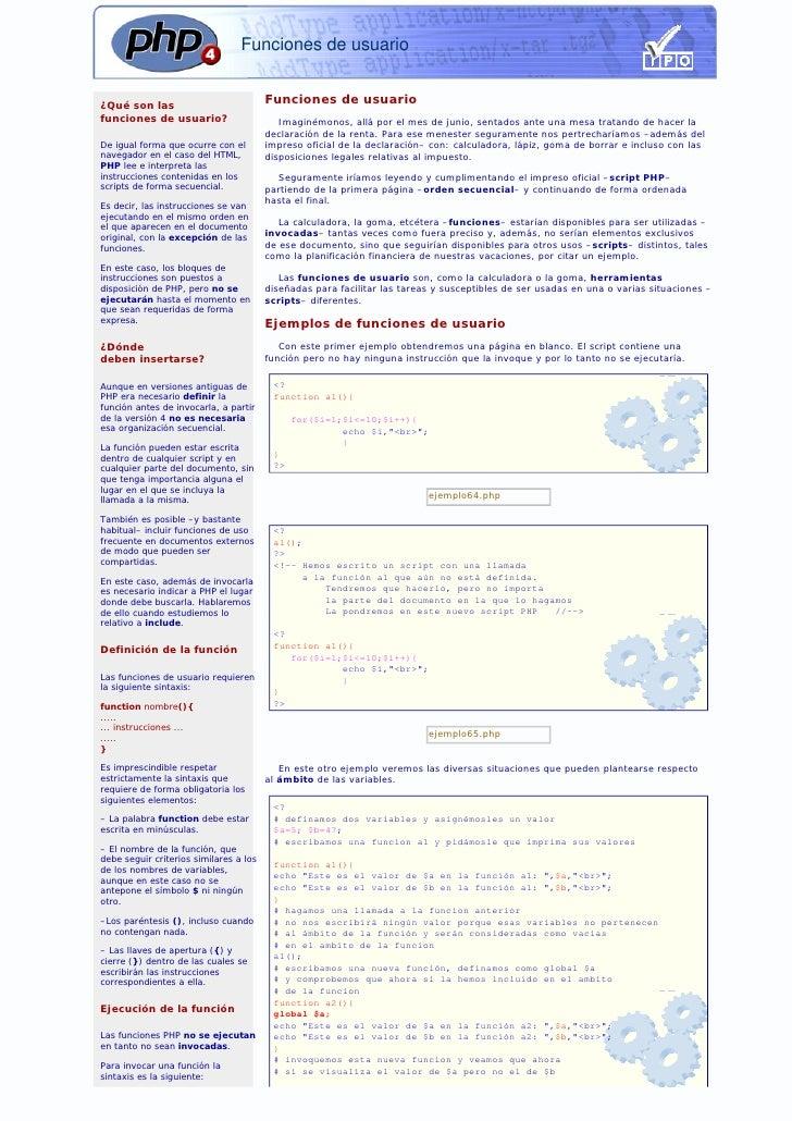 Funciones de usuario   ¿Qué son las                                         Funciones de usuario funciones de usuario?    ...