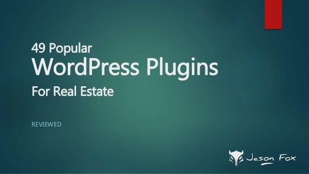 49 Popular WordPress Plugins For Real Estate REVIEWED