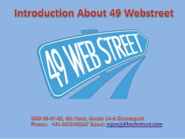 """""""Your Street to the Web"""" 49 Web Street is a full service web design & development and online marketing company providing c..."""