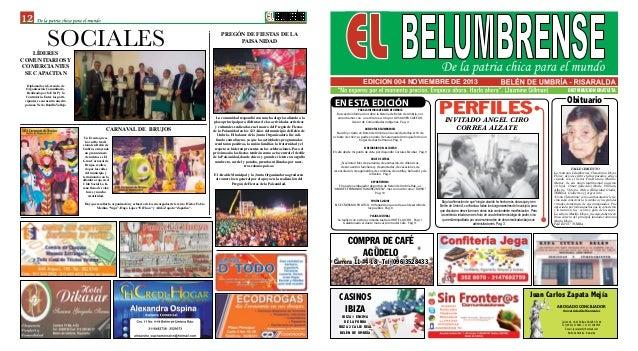 DISTRIBUCION GRATUITA 12 EDICION 004 NOVIEMBRE DE 2013 SOCIALES CASINOS IBIZA IBIZA 1 ENCIMA DE LA FONDA IBIZA 2 CALLE REA...
