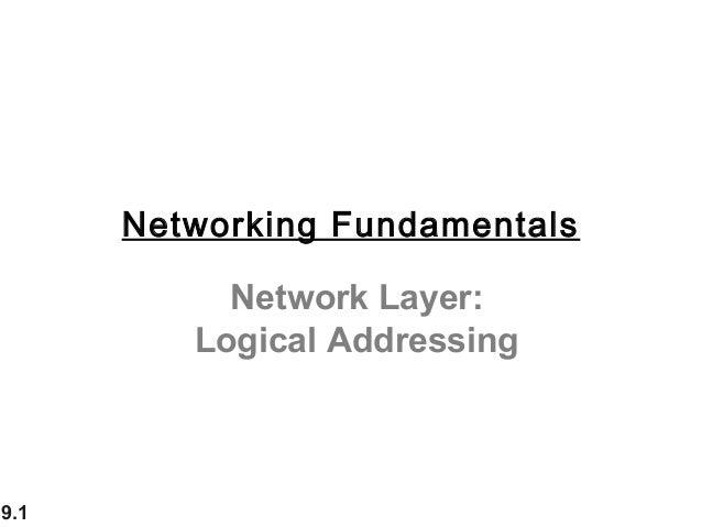 9.1Network Layer:Logical AddressingNetworking Fundamentals