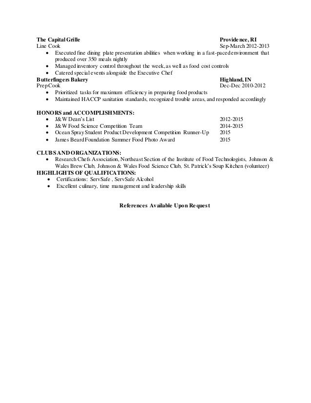stephen hanyzewski resume - Food Science Resume Skills