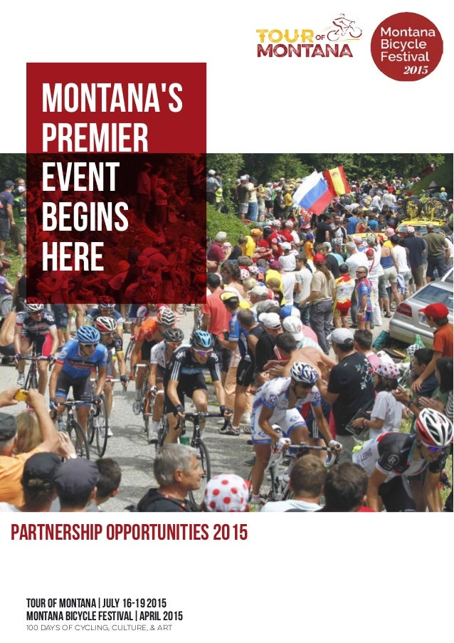tour of montana|July 16-19 2015 Montana Bicycle Festival|April 2015 Partnership Opportunities 2015 100 Days of Cycling, Cu...
