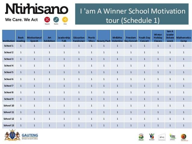 I 'am A Winner School Motivation tour (Schedule 1) Institution Book reading Motivational Speech Art Exhibition Leadership ...
