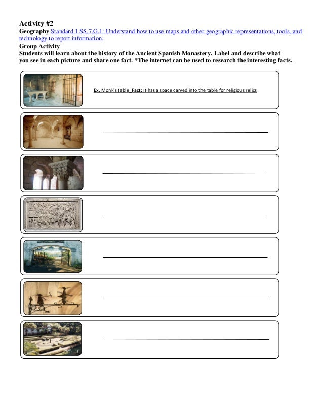 The ancient spanish monastery gardens education activity workbook 1 4 ccuart Image collections