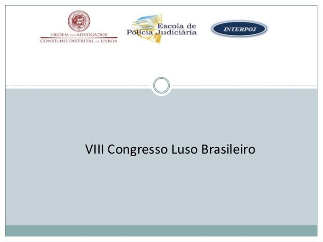 VIII Congresso Luso Brasileiro