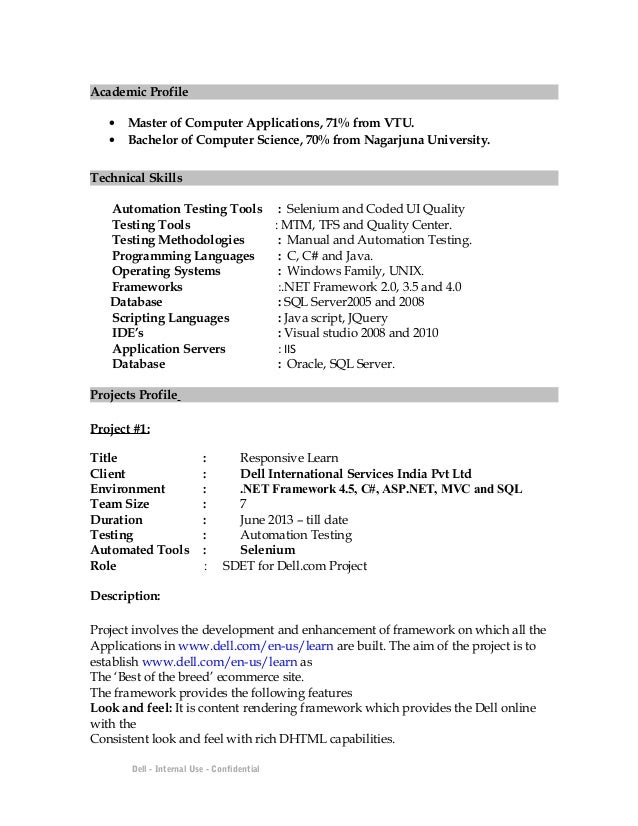 asp programmer resume