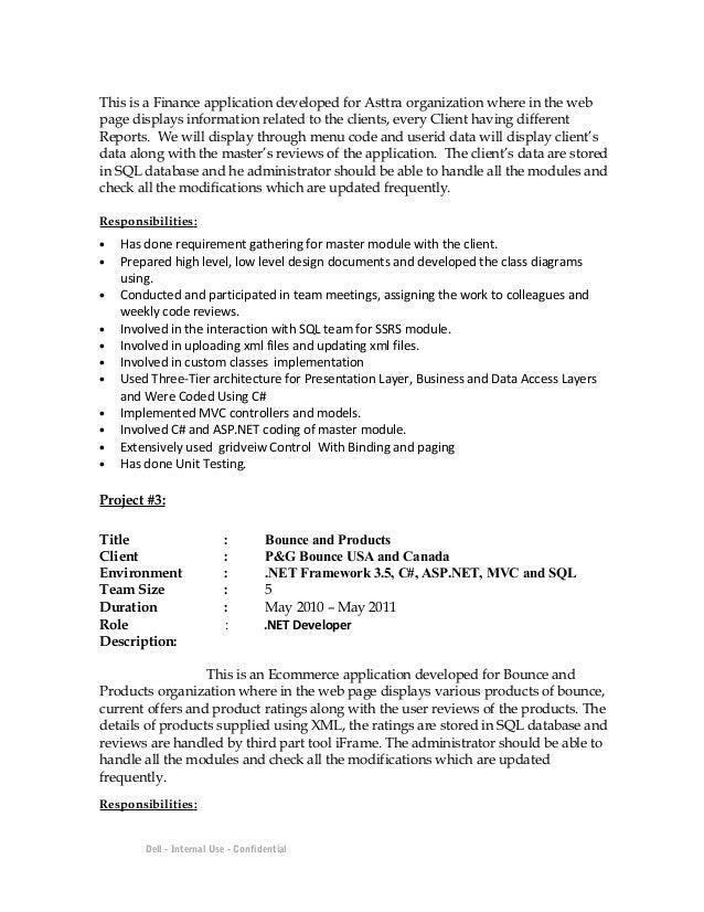 resume headline for asp net developer fascinating asp net project