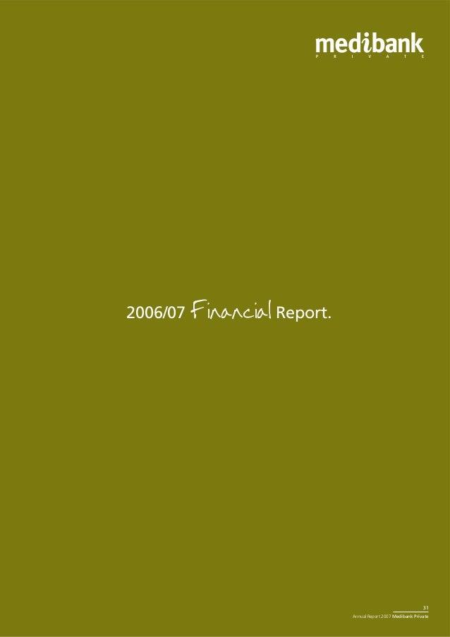 Medibank Private Annual_Report_2007 Debbe Vo