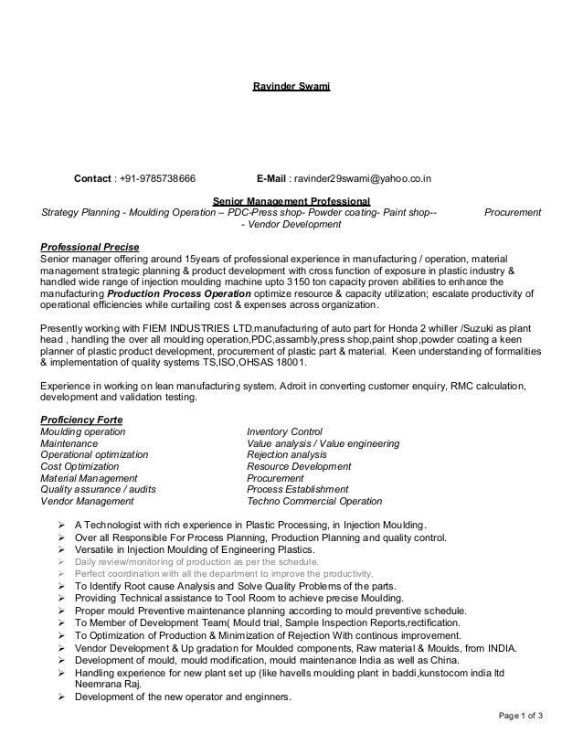 Resume Prod