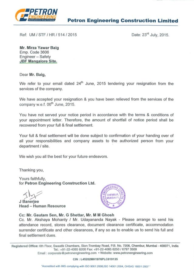 Releasing Letter Petron