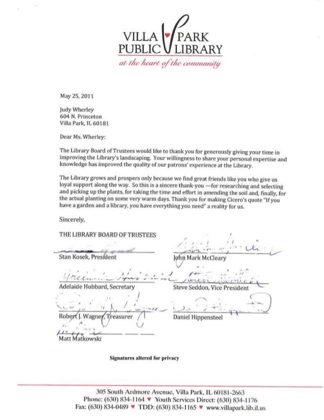 VP Letter