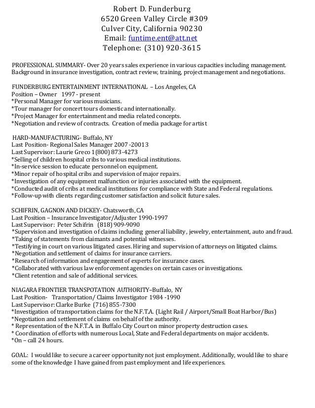 robert f resume