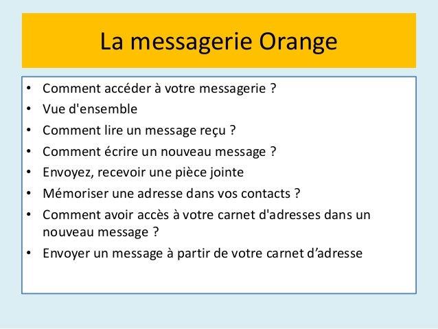 La messagerie Orange