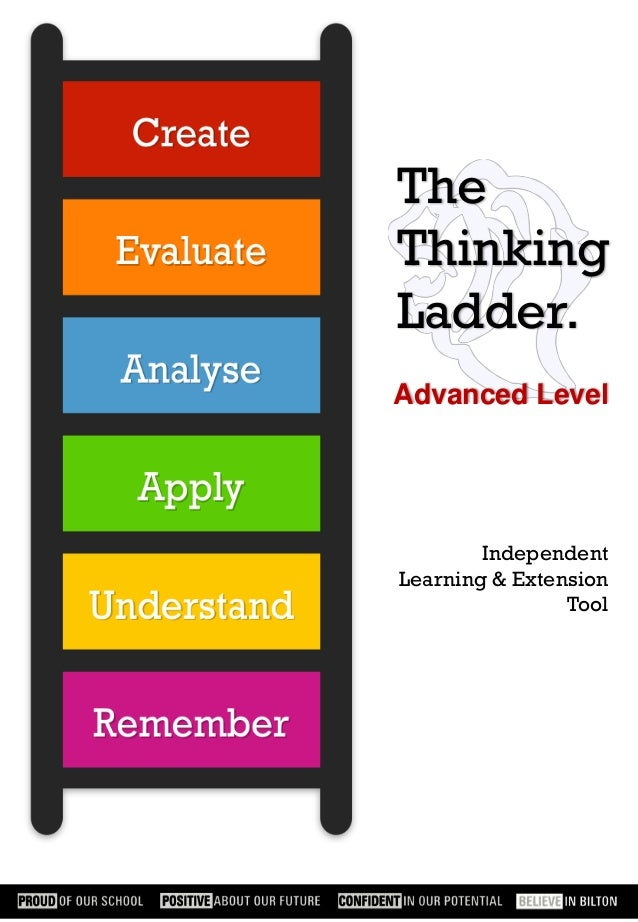 The Thinking Ladder. Advanced Level  Independent Learning & Extension Tool