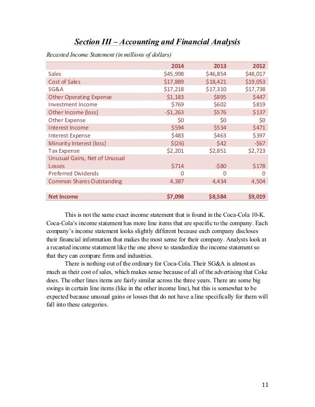 Financial results and presentations