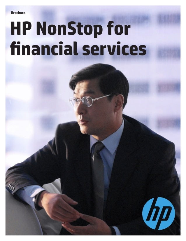 Brochure  HP NonStop for financial services