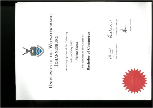 Phd degree wits