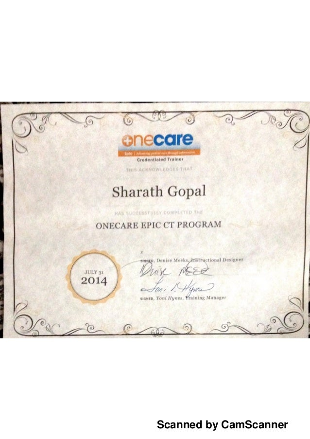 epic certificate credential slideshare upcoming