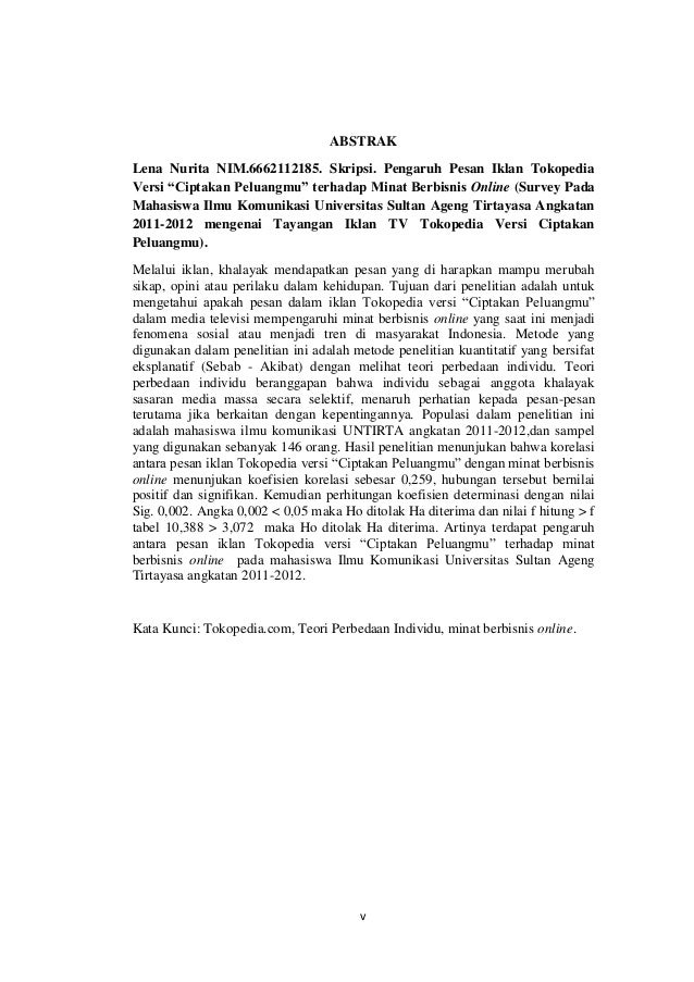 Contoh Abstrak Skripsi Kualitatif Ilmu Komunikasi Pejuang Skripsi