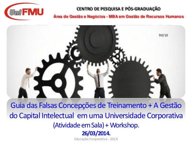 CENTRO DE PESQUISA E PÓS-GRADUAÇÃO Área de Gestão e Negócios - MBA em Gestão de Recursos Humanos GuiadasFalsasConcepçõesde...
