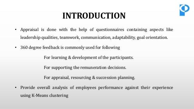 performance evaluation dissertation proposal