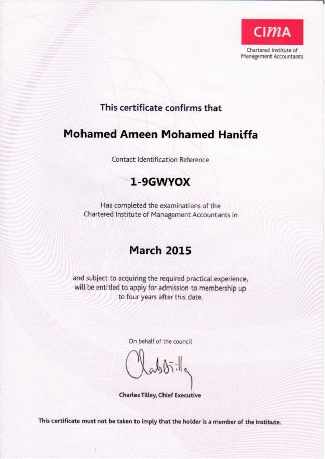 09 Cima Top Cima Certificate