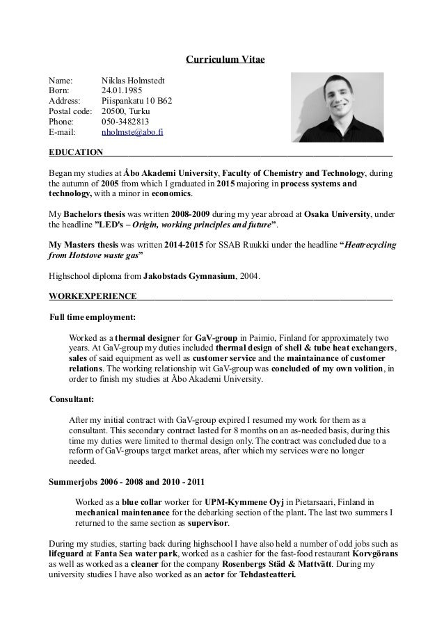 niklas holmstedt english cv