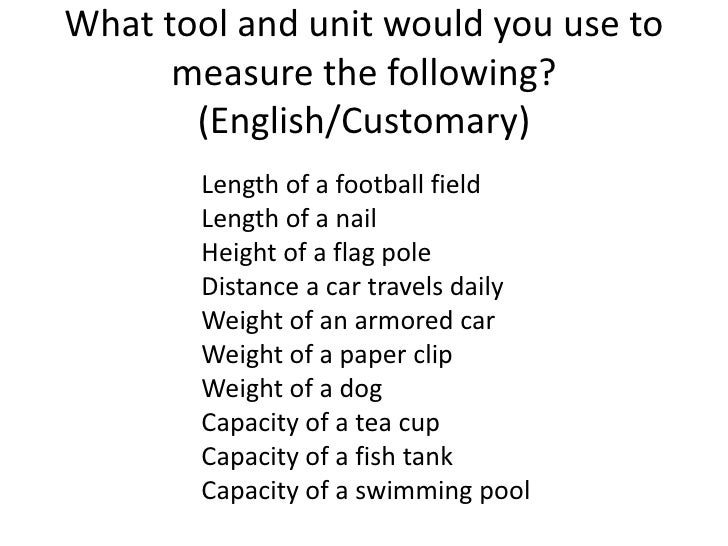 4a converting measurements. metric and customary