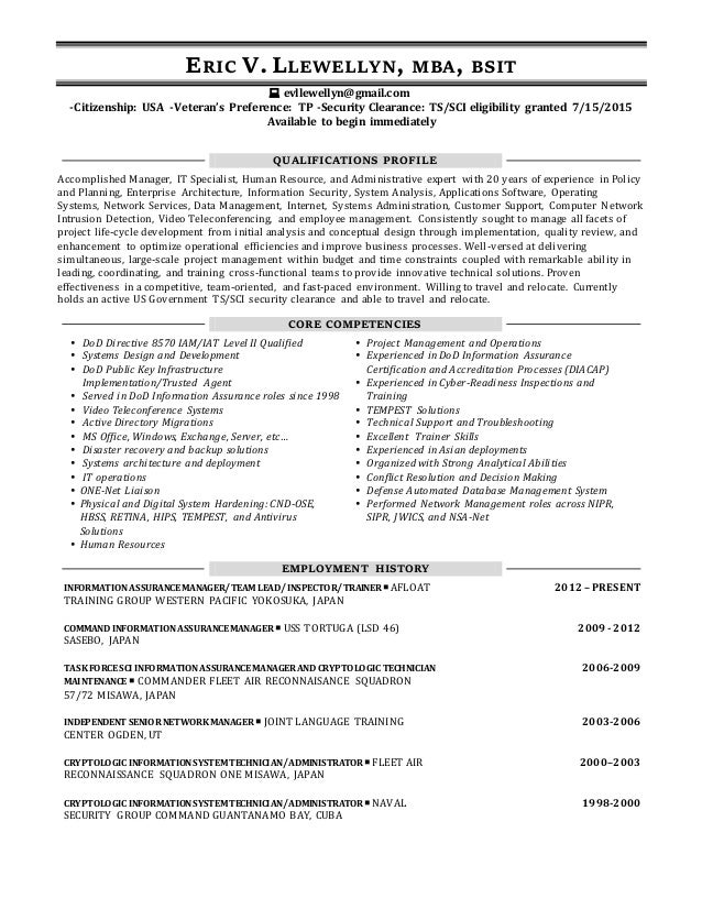 Llewellyn Link Resume