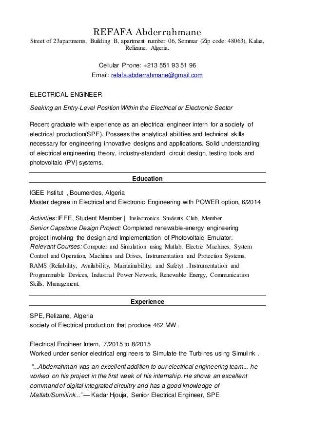 REFAFA Abderrahmane resume