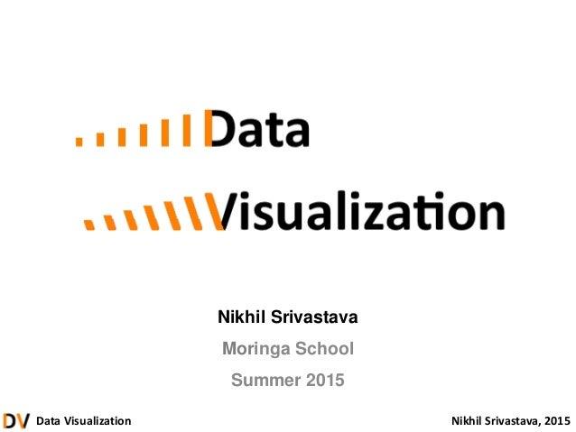 Data Visualization Nikhil Srivastava, 2015 Nikhil Srivastava Moringa School Summer 2015