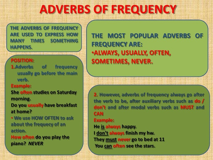4 adverbs of frequency