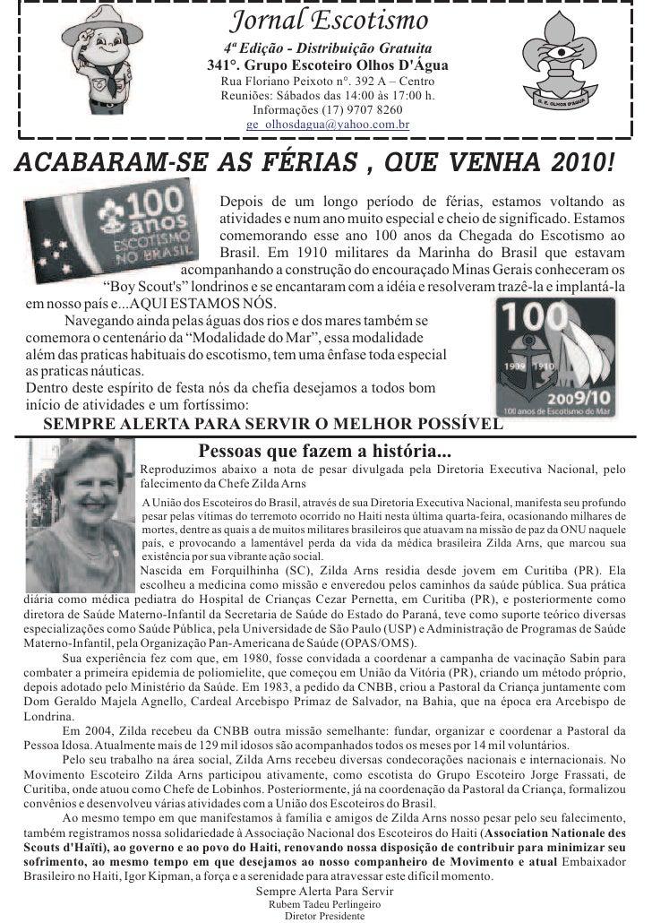 Jornal Escotismo                                      4ª Edição - Distribuição Gratuita                                   ...
