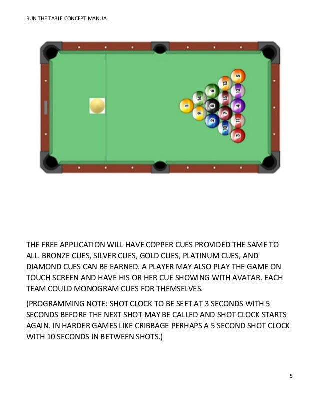 Pleasing Run The Table Pool Only App Download Free Architecture Designs Xaembritishbridgeorg