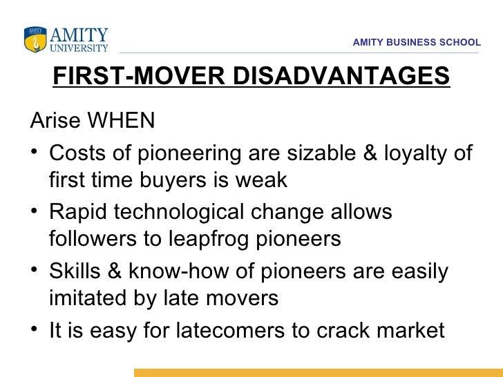 late mover disadvantage