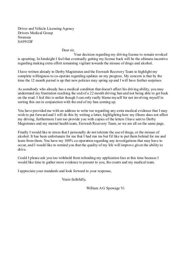 DVLA response - futher revoked license letter