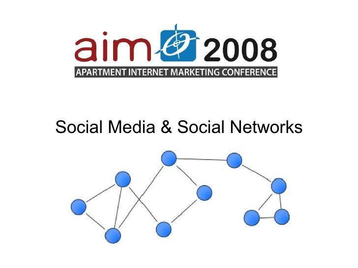 Social Media & Social Networks