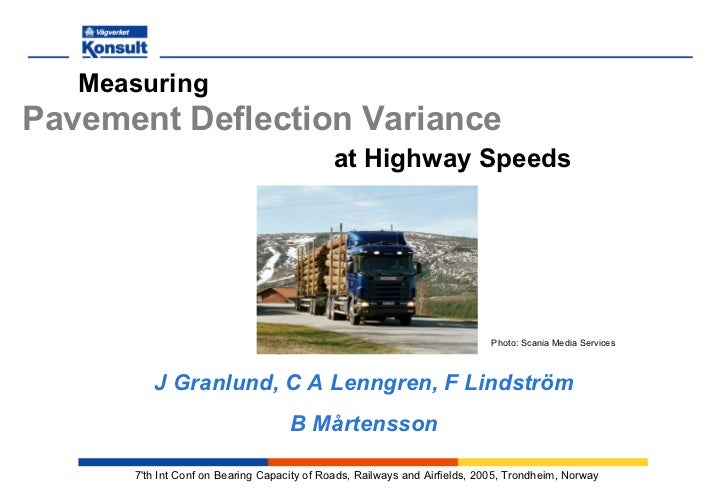 MeasuringPavement Deflection Variance                                             at Highway Speeds                       ...