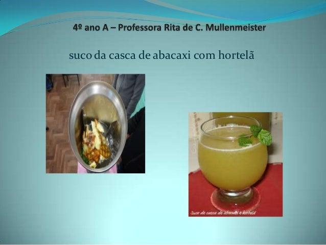 suco da casca de abacaxi com hortelã