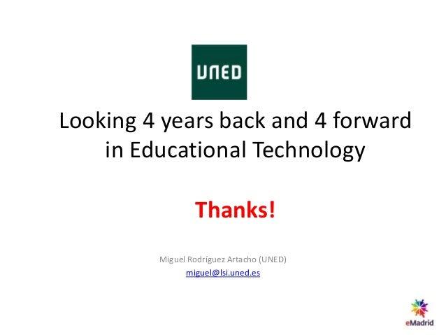 Mirando 4 años atrás y 4 años adelante en tecnología educativa