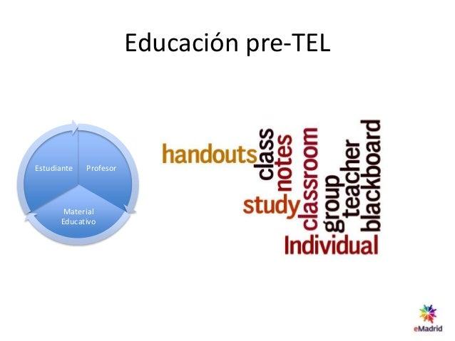 Educación pre-TEL Profesor Material Educativo Estudiante