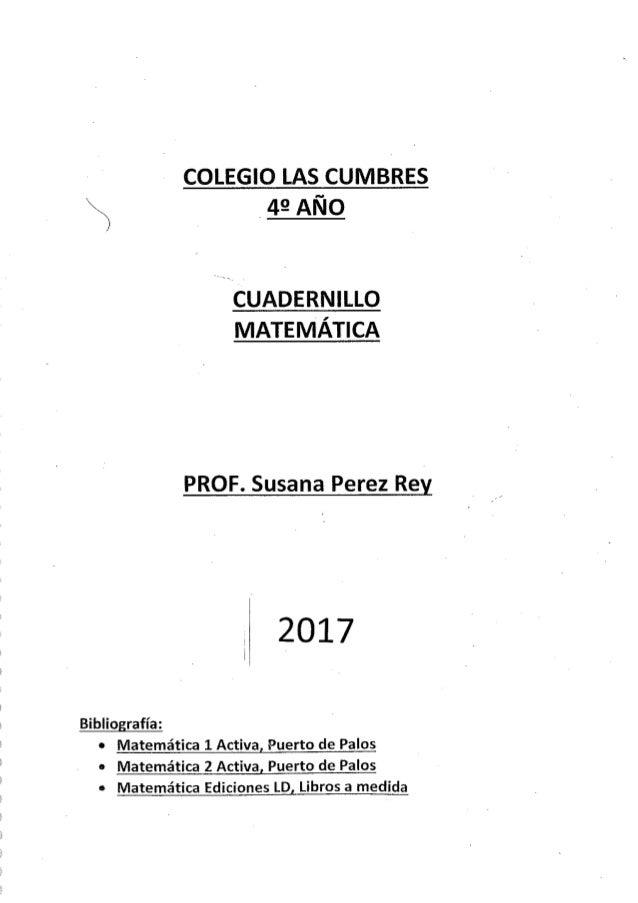 4° año Matemática