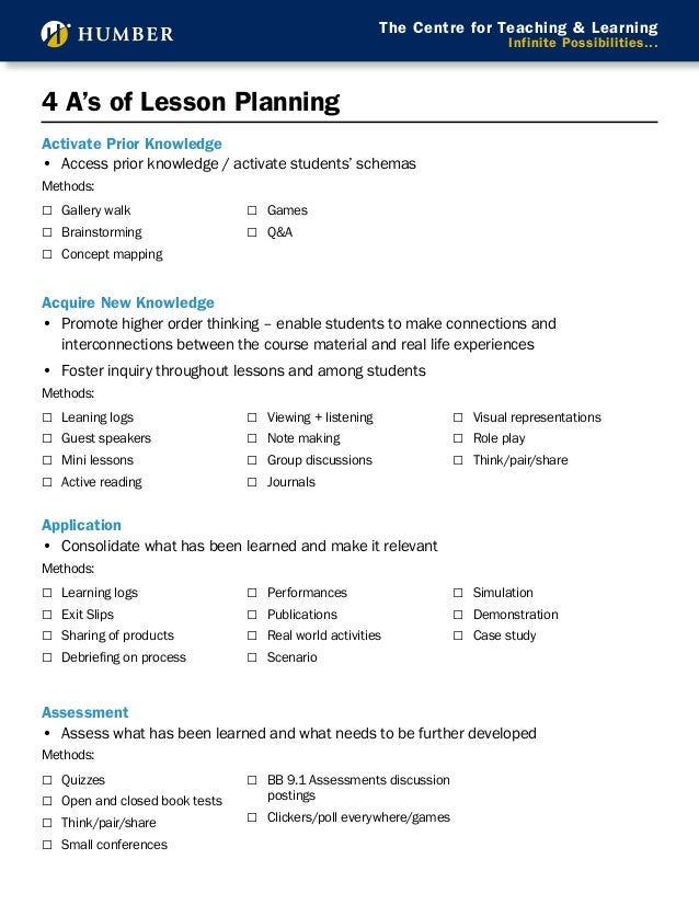 how to make a lesson plan for teaching english