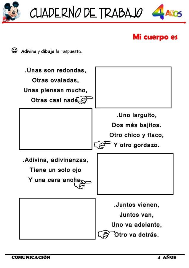 Cuaderno de trabajo I - 4 Años Comunicacion