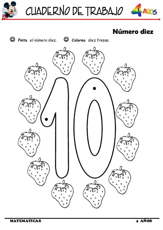 Excelente Número 10 Para Colorear Componente - Dibujos Para Colorear ...