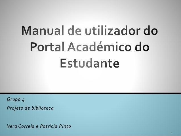 Grupo 4 Projeto de biblioteca Vera Correia e Patrícia Pinto