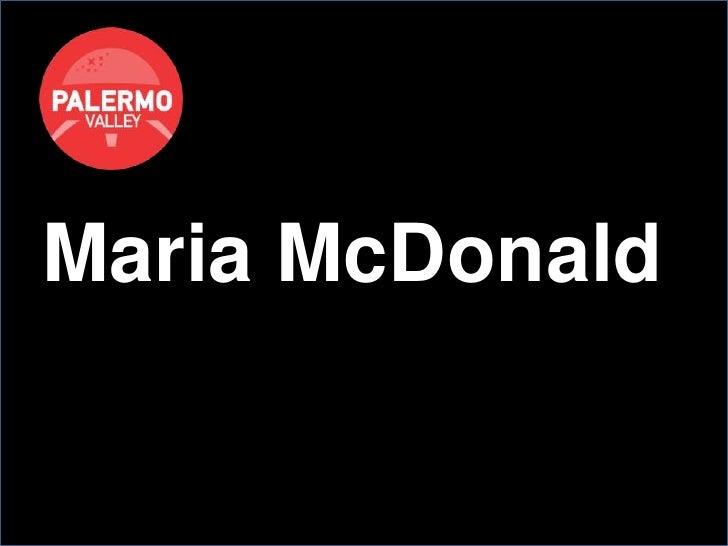 Maria McDonald<br />
