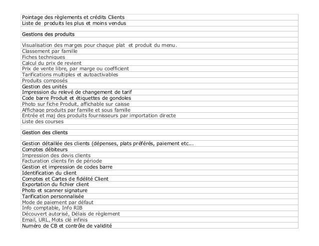 4ASoft Resto - logiciel pour les restaurants, spécification générale. Slide 3